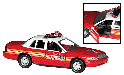 model car fire department new york fdny 1 43 ford crown victoria toys. Black Bedroom Furniture Sets. Home Design Ideas