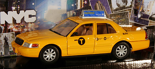 Model car new york city taxi 1 24 ford crown for Ford models nyc