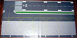 Authentic Airport Layout Mats 78x40inch 1/200 and 1/400