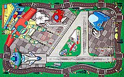 Airport Play Mat for Children 41x31.5 inch