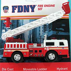 Model car - Fire Department New York FDNY - 13cm long - Ladder engine car