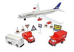 SAS A340 Airport Play Set 12 pieces